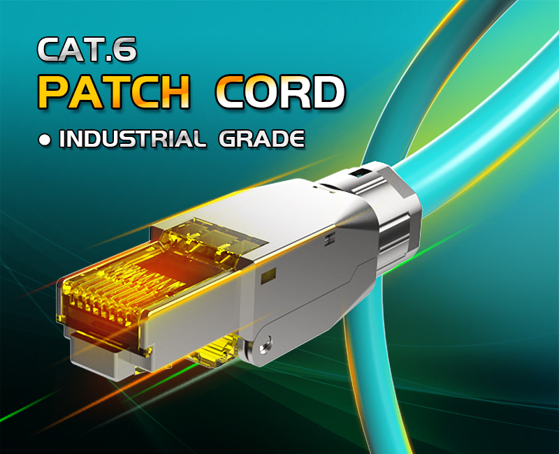 Enmane-Professional Industrial Grade CAT.6 Patch Cord, Game Fever Cable